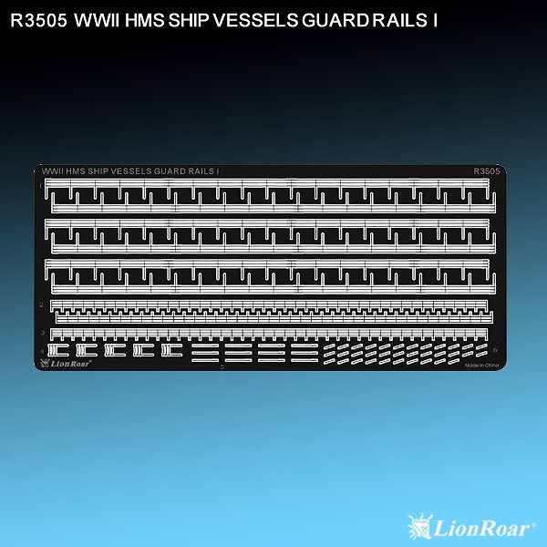 R3505 1/350 WWII イギリス海軍 艦船用手すり 1
