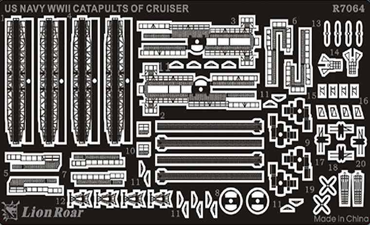 R7064 1/700 WWII アメリカ海軍 巡洋艦用 カタパルト