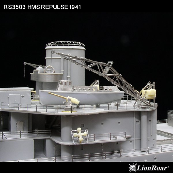 RS3503 1/350 WWII イギリス海軍 巡洋戦艦 H.M.S. レパルス 1941(TR社)用 ディテールアップパーツセット