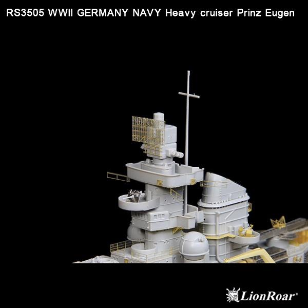 RS3505 1/350 WWII ドイツ海軍 重巡洋艦 プリンツ・オイゲン(TR社)用 ディテールアップパーツセット