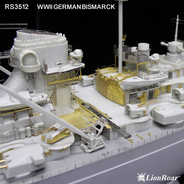 RS3512 1/350 WWII ドイツ海軍 戦艦 ビスマルク(R社)用 ディテールアップパーツセット