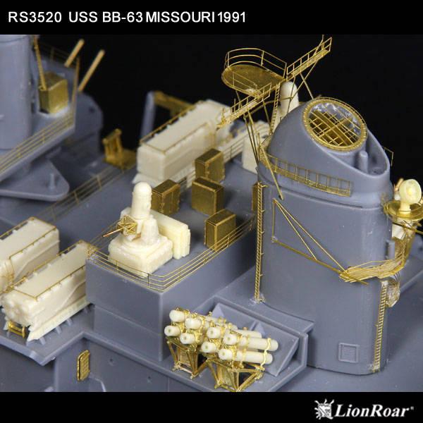 RS3520 1/350 アメリカ海軍 戦艦 ミズーリ 1991(T社)用 ディテールアップパーツセット