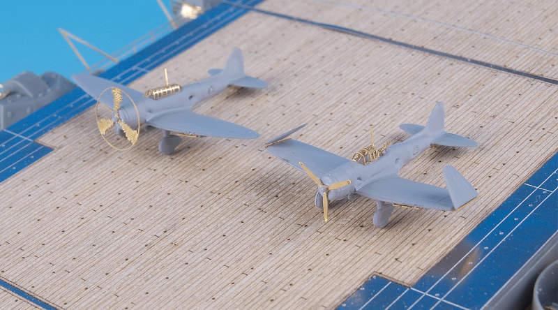 SA3507 1/350 日本海軍 空母 艦載機用1(九九艦爆、九七艦攻、零戦二一)