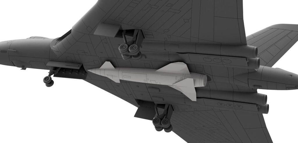 SN22 1/144 イギリス空軍 爆撃機 バルカン B.2 ブルースチールミサイル付き