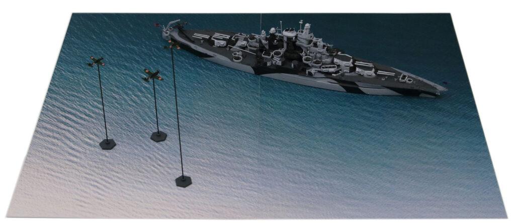 SPS05 1/700 マリアナ諸島の戦い【BB-43 テネシー VS 日本海軍航空隊】