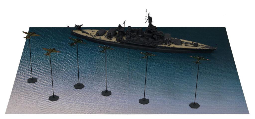 SPS06 1/700 サイパン上陸支援作戦【BB-46 メリーランド VS 日本海軍陸攻部隊】