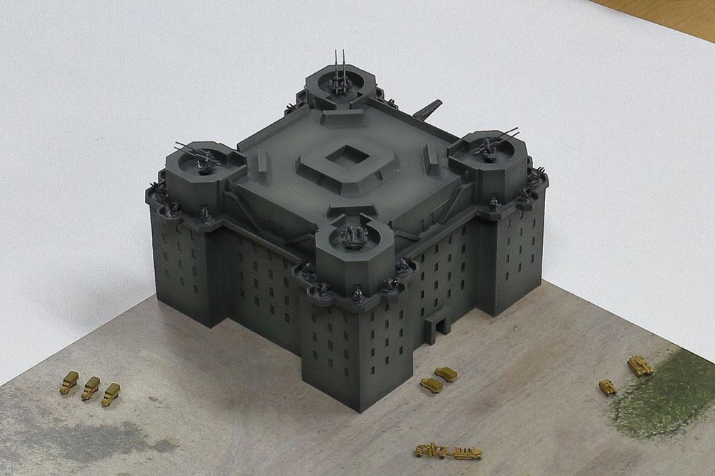 SPS13 1/700 ベルリン防空要塞(フラックタワー)