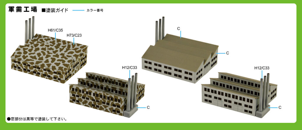 SW24 1/700 軍需工場