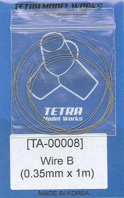 TA0008 ステンレスワイヤー0.35mm径×1m