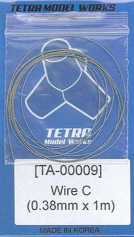 TA0009 ステンレスワイヤー0.38mm径×1m
