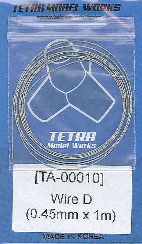 TA0010 ステンレスワイヤー0.45mm径×1m