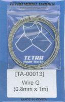 TA0013 ステンレスワイヤー0.8mm径×1m