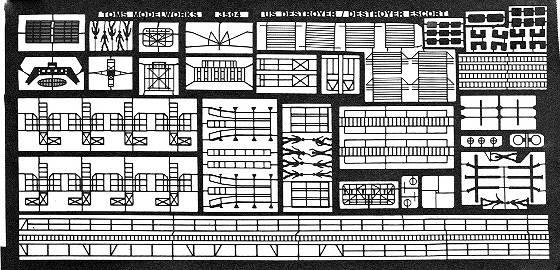 TM3504 1/350 WWII アメリカ海軍 駆逐艦用 エッチングパーツ