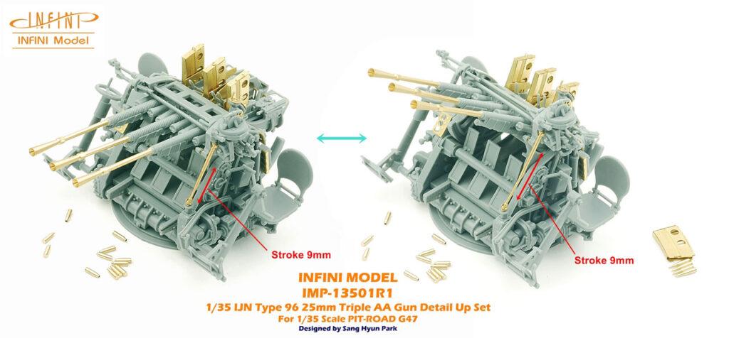 IMP13501 1/35 日本海軍 九六式25mm三連装機銃用 ディテールアップパーツ