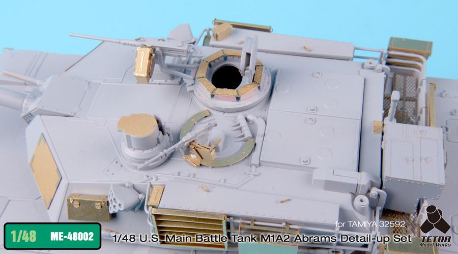 ME4802 1/48 アメリカ陸軍 M1A2 エイブラムス戦車(T社)用 エッチングパーツ