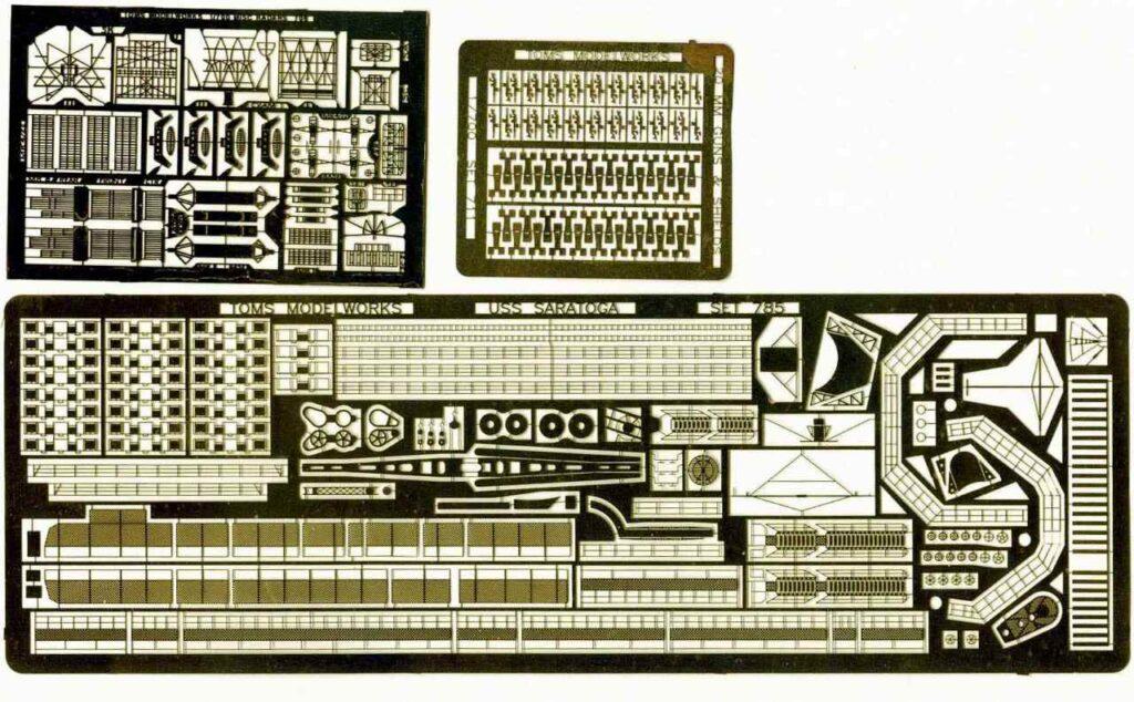 PE329 1/700 アメリカ海軍 空母 CV-3 サラトガ(T社)用 エッチングパーツ
