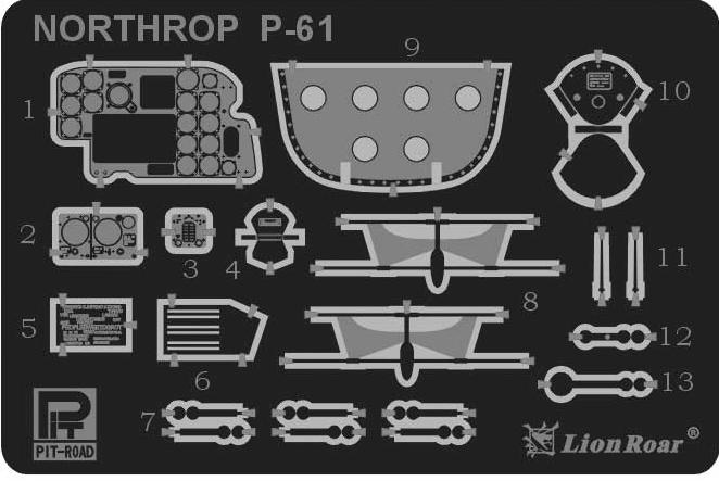 PE4801 1/48 P-61A 戦闘機用 エッチングパーツ