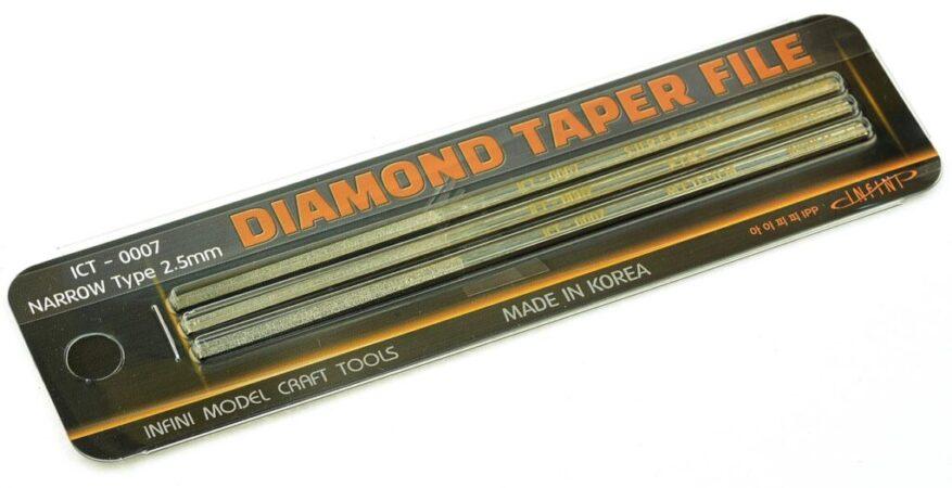 ICT0007 ダイヤモンドやすりセット(幅狭)3本入り