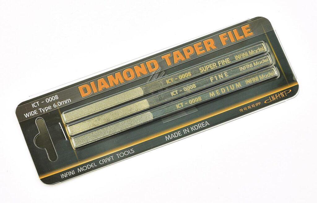 ICT0008 ダイヤモンドやすりセット(幅広) 3本入り