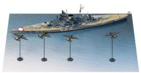 SPS22 1/700 ドイツ海軍 戦艦 ティルピッツ VS イギリス空軍