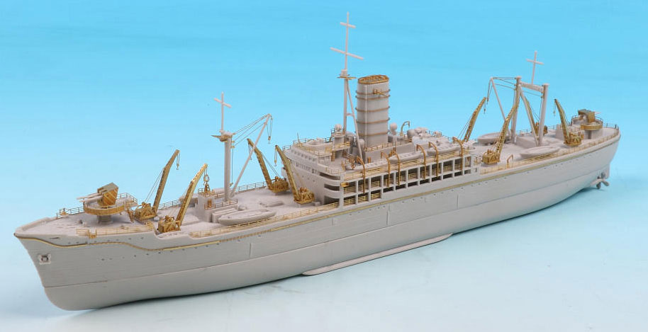 SPW75DX 1/700 日本海軍 給糧艦 伊良湖 最終時 エッチングパーツ&木製甲板付き